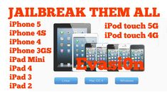 Jailbreak iOS 6.1.1, iPhone 5, 4S, 4, 3GS, iPad Mini, 4,3,2, iPod Touch ...