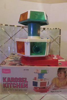 Vintage Sears Karosel Kitchen w/Box World's Fair Kitchen Replica for Barbie  #Sears