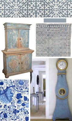 Swedish Blue & White