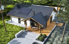 DOM.PL™ - Projekt domu ACX Mini 4 w. II CE - DOM UF1-11 - gotowy koszt budowy Farmhouse Design, Modern Farmhouse, 100 M2, Bungalow House Design, Home Technology, Dream House Exterior, Pergola Patio, Design Case, Future House