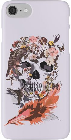 Birds, butterfly and Sugar Skull Iphone case #Case #CellPhone #iPhonecase #hardcase #Birds #butterfly #Sugar #skull #skeleton #dayofthedead #diasdemuertos #jackskellingtons #halloween #scary #thenightbeforechristmas #animal #bone #tattoo #hippie #hipster #aztec #maya #indian #feather #bird #mexico #mexican #hauntedmansion #ghost #monster #sugarskull