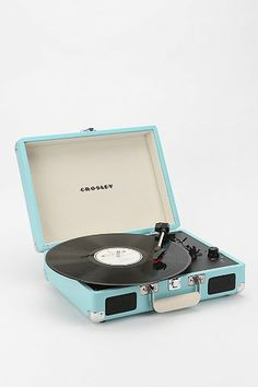 Crosley Cruiser Briefcase  Portable Record Player in Baby Blue $98.00 - Urban Outfitters