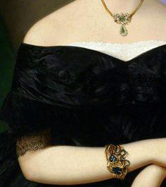 """""""Portrait of Luiza Pesjak"""" (1850) (detail) by Mihael Stroj (1803-1871).  The Enchanted Garden ..."""