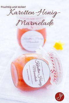Marmelade-Rezepte, Brotaufstrich-Rezepte, Karotte-Rezept: Rezept für Karotten-Honig-Marmelade von herzelieb. Ganz einfach und leicht zu machen und unglaublich lecker. #brot #rezept #ostern #osterfrühstück