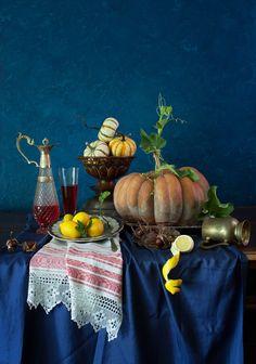 Still Life with Pumpkins ↕ by Yelena Strokin