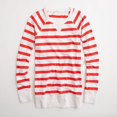 j.crew factory stripe popover    continuing my love of all things striped ... i'll take this in navy, periwinkle, red and black ... thanks!
