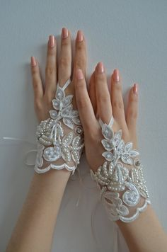 Wedding Gloves lace gloves cuffs cuff wedding by newgloves on Etsy, $30.00