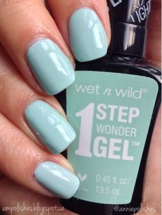 9eaf26bc0884f9 A.M. Polishes: wet n wild 1 Step Wonder Gel Polish Swatches - Pretty Peas  Pin