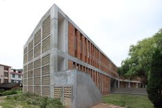 Gallery of Tongjiang Recycled Brick School / Joshua Bolchover - John Lin - 19 Brick Architecture, Architecture Office, Sustainable Architecture, Architecture Details, Brick Building, Building Design, Recycled Brick, Brick Facade, Interesting Buildings