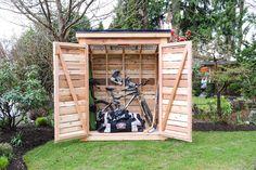 DIY Cedar Outdoor Garden or Tool Shed