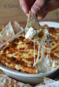 crab rangoon dip with wonton chips 2