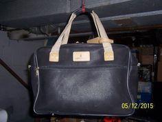 london fog luggage or a lady's handbag black leather w/ zipper storage #londonfog #ShoulderBag