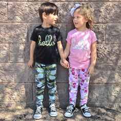 Hello Merch — Hello Camo (Adult & Kids) Black Poly Cotton T-Shirt Camouflage T Shirts, Pink Camouflage, Kids Fashion, Delivery, Stylish, Floral, Cotton, Free Uk, Collection