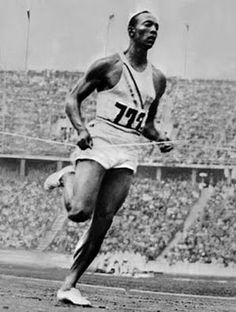 Much to the decry of Adolf Hitler, Jesse Owens, an African-American, took over the track and field events at the 1936 Games in Berlin, winning a record-setting four Gold medals. 1936 Olympics, Berlin Olympics, Summer Olympics, Carl Lewis, Jesse Owens, Usain Bolt, Track And Field Events, Track Field, American Athletes