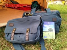 Love good bags! 'Home of Millican' Mark the Courier Bag and Harry the Gladstone bag at Blogstock