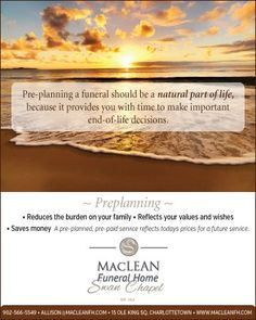 Some of the benefits of preplanning a funeral.