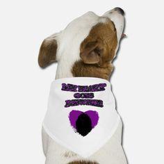 'My Heart Goes Newfie Purple Heart' Hunde-Bandana | Spreadshirt