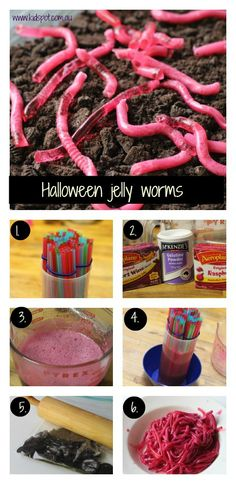 Halloween jelly worms