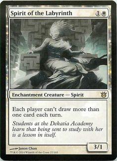 Magic The Gathering Born of the Gods Spirit of the Labyrinth RARE MTG X1 #WizardsoftheCoast