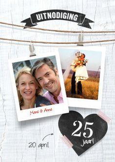 Uitnodiging huwelijk 12.5, 25, 40 en 50 jaar getrouwd   Kaartje2go