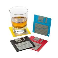 Floppy disk coasters.  Nostalgia!
