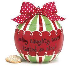 Christmas Tree Ornament Cookie Jar