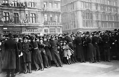 Police officers restrain a crowd of people who turned out for the wedding of Princess Mary and Henry Charles George, Viscount Lascelles, in February of 1922. Th e couple  moved to Goldsborough Hall and lived there throughout the 1920s.