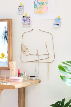 Femme Wall Hanging Embellish your space and display your jewelry with this femme figure wall hanging. Wire structure features hooks + loops for showing off your favorite rings, ribbons, necklaces + more. Full Circle Home: Urban Outfitters Finds! Home Decor Accessories, Decorative Accessories, Bedroom Wall, Bedroom Decor, Coral Room Decor, Bedroom Ideas, Urban Outfitters Bedroom, Peach Walls, Home And Deco