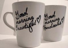 acolline's save of Latte mug couple set of 2 Personalized mug by theprintedsurface on Wanelo