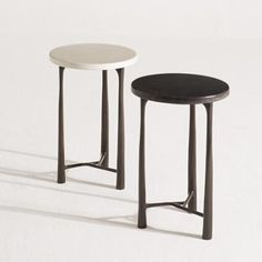 Margot Side Tables with lacquered surfaces and bronze legs - H&H Dubai Trunk Side Table, Corner Table, A Table, Dining Table, Coffee Table With Stools, Side Coffee Table, Design Furniture, Table Furniture, Accent Furniture