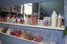 pinterest home preschool organization | Storing art supplies | at-home daycare: organization and decor