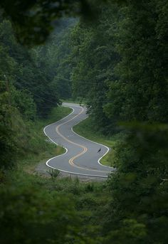 This is an example of s curves because the road is curving like in the shape of an s.