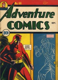 Adventure Comics #66 starring Ted Knight Starman, Golden Age; first appearance of the Shining Knight