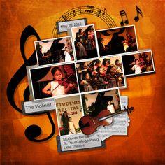 The Violinist    Digital Scrapbook Layout