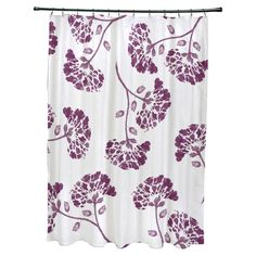 E By Design April Polyester Shower Curtain