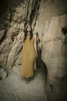 Hemp Cotton Light Brown Dress