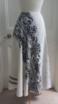 Vtg 70s Embroidered Wrap Around Maxi Skirt Bohemian Hippie Boho Ethnic Gypsy