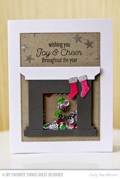 Trim the Tree, Fireplace Die-namics, Stitched Rectangle STAX Die-namics - Carly Lee Minner  #mftstamps