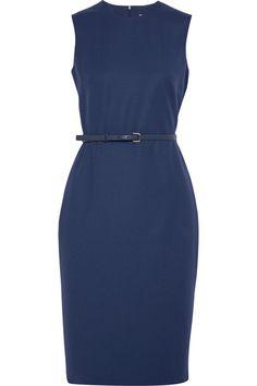Max Mara - Wool-blend Dress - Blue - UK18