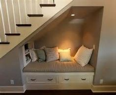 reading nook in finished basement