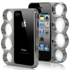 Inked Silver Electro-plated Knuckle Duster Iphone Case