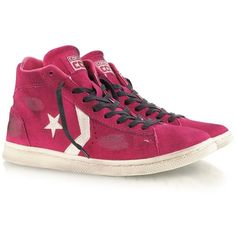 33386a65214045 Converse Limited Edition Fuchsia Pro Leather Mid Suede LTD Sneaker  featuring polyvore fashion shoes sneakers fuchsia