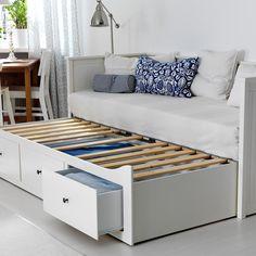 Banquette gigogne blanche, Ikea