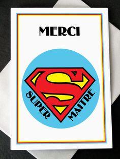 "Carte Merci ""Super Maître"" : Cartes par creerpourvous"