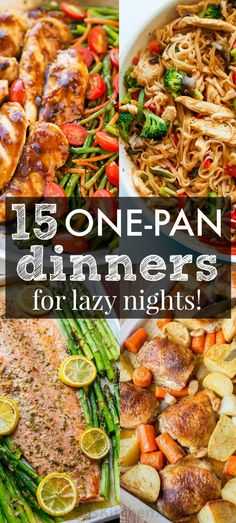 The Best One Pan Recipes to get you excited about dinner! These low stress one-dish, one-pan, one-pot recipes are creative and delicious with easy cleanup! | natashaskitchen.com