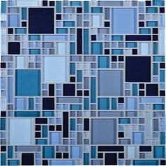 "View the Daltile CT26-BLRANDMS1P Circuit Glass 11.75"" x 11.75"" Block Random Mosaic Wall Tile at Build.com."