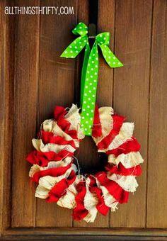 DIY Christmas Wreath Crafts: Pinterest Inspiration - Green Decor and Design