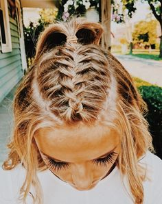 Cute Hairstyles For Teens, Sporty Hairstyles, Cool Braid Hairstyles, Easy Hairstyles For Long Hair, Teen Hairstyles, Braids For Long Hair, Pretty Hairstyles, Cute Volleyball Hairstyles, Athletic Hairstyles