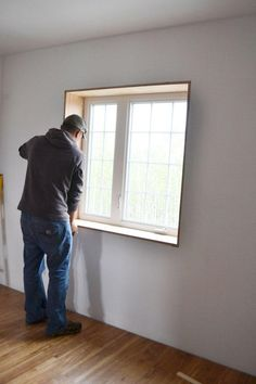 Window Jamb Extensions to pair with exterior window casing Modern Windows, Wood Windows, Windows And Doors, Window Jamb, Window Casing, Exterior Siding Colors, Exterior Cladding, Chassis Pvc, Grey House White Trim
