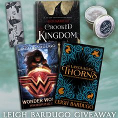 Love Leigh Bardugo's epic fantasy stories? Then you'll want to get in on this epic giveaway! One lucky reader will win her upcoming short story collection The Language of Thorns, her new Wonder Woman novel Warbringer, one other book of the winner's choice, a Darkling candle, and a Six of Crows bookmark. Open worldwide (see rules for details)! This giveaway is sponsored by YA authors Amy McNulty (Nobody's Goddess), Jesikah Sundin (Legacy), Dorothy Dreyer (Phoenix Descending), Dyan Chick (Heir…